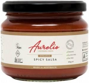 Aurelio Organic Spicy Salsa G/F 300g