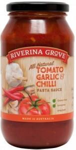 Riverina Grove Tomato Garlic Chili Pasta Sauce G/F 500g