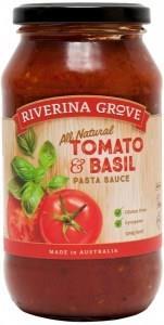 Riverina Grove Tomato Basil Pasta Sauce G/F 500g