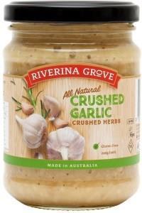Riverina Grove Crushed Garlic G/F 240g