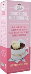 Melindas Choc Fudge Mug Brownie Pre-Mix G/F 200g