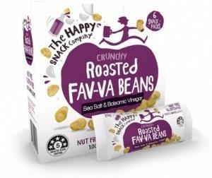 The Happy Snack Company Roasted Fav-va Beans Sea Salt & Balsamic 6x25g Box