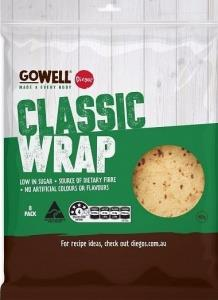 Diego's GoWell Classic Wrap (8Pack) 400g