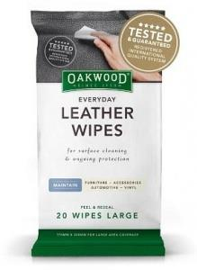 Oakwood Everyday Leather Wipes Large (170mmx300mm) 20 pack