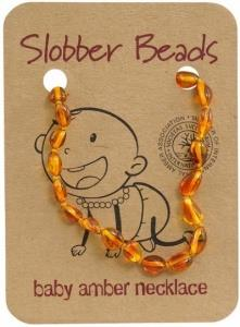 Slobber Beads Baby Honey Oval Necklace