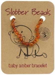 Slobber Beads Baby Cognac Oval Bracelet
