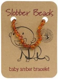 Slobber Beads Baby Cognac Round Bracelet