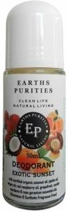 Earths Purities Ladies Natural Exotic Sunset Liquid Roll On Deodorant 50ml