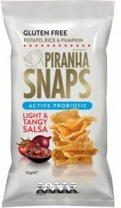 Piranha Snaps Probiotics Light & Tangy Salsa G/F 12x50g