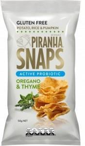 Piranha Snaps Probiotics Oregano & Thyme G/F 12x50g