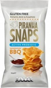 Piranha Snaps Probiotics Smokehouse BBQ G/F 12x50g