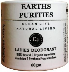 Earths Purities Ladies Natural Deodorant Paste with Applicator 60g in a Box