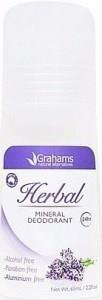 Grahams Herbal Mineral Deodorant Roll On 65ml