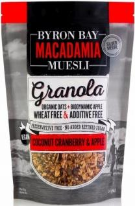 Byron Bay Macadamia Muesli Granola Coconut, Cranberry & Apple 2Kg