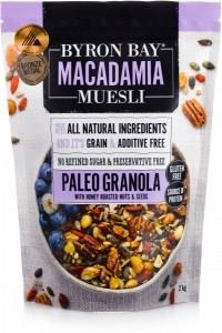 Byron Bay Macadamia Muesli Gluten Free Granola Paleo Mix Honey Roasted 2Kg
