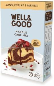 Well And Good Marble Cake Mix & Choc Frosting G/F 450g