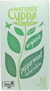 Natures Cuppa Organic Peppermint 50 Teabags