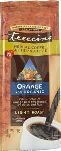 Teeccino Chicory Herbal Coffee All Purpose Grind Orange Light Roast No Caf 312g