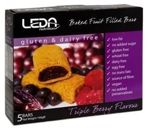 Leda Multi Pack G/Free Triple Berry 5Bars 190g