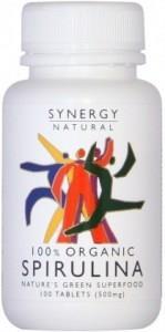 Synergy Spirulina 500mg x 100 tabs Organic
