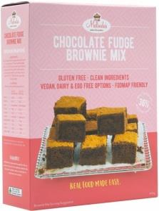 Melindas Choc Fudge Brownie G/F Pre-Mix 415gm
