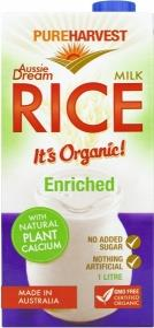Pure Harvest Aussie Dream Org Rice Milk+Cal 1lt