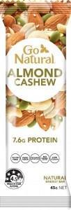 Go Natural Almond & Cashew Bar 16x45g