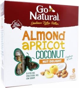 Go Natural Almond Apricot Coconut Nut Delight Bars G/F 5x35gm