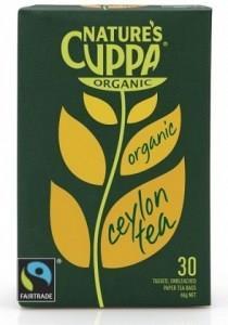Natures Cuppa Organic Tea Ceylon 25 Teabags