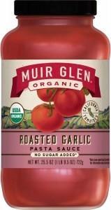 Muir Glen Pasta Sauce Roasted Garlic Org 723gm
