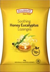 Double D Eucalyptus & Honey Drops 150g