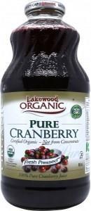 Lakewood Pure Organic Cranberry Juice 946ml