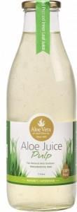 Aloe Vera Aloe Juice Pulp 100% Pure (Glass) 1Lt