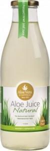 Aloe Vera Aloe Juice Natural 100% Pure (Glass) 1L