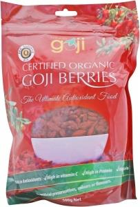 Naturally Goji Organic Tibetan Goji Berries 500gm