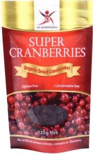Dr Superfoods Super Organic Dried Cranberries 125g