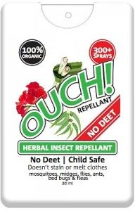 Ouch Organic Instant Herbal Insect Repellant Spray 20ml