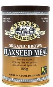 Stoney Creek Organic Brown Flaxseed Meal Can 500gm
