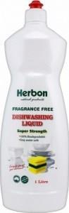 Herbon Fragrance Free Dishwashing Liquid 1lt