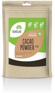 Lotus Cacao Powder Raw Organic G/F 250g