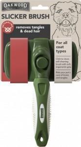 Oakwood Detangling Slicker Brush for Short or Wiry Coat 1Pack