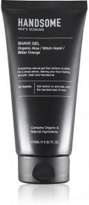 Handsome Men's Organic Skincare Shave Gel Aloe/Witch Hazel/Bitter Orange 175ml