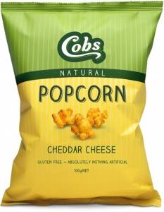 Cobs Natural Cheddar Cheese Popcorn G/F 12x100g