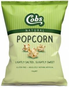 Cobs Natural Lightly Salted, Slightly Sweet Popcorn G/F 12x120g