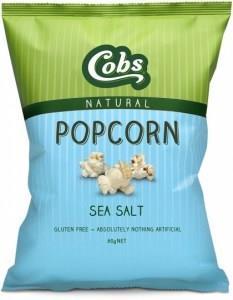 Cobs Natural Sea Salt Popcorn G/F 12x80g