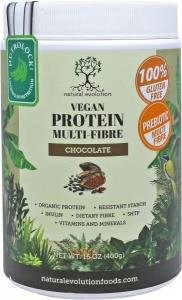 Natural Evolution Vegan Protein Multifibre Chocolate G/F 400g