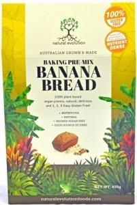 Natural Evolution Baking Pre-Mix Banana Bread G/F 435g