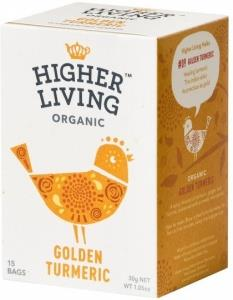 Higher Living Organic Golden Turmeric 15Teabags