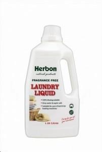 Herbon Fragrance Free Laundry Liquid 1.25L