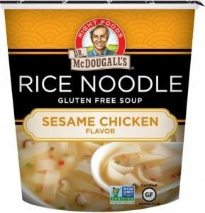 Dr McDougall Rice Noodles Sesame Chicken G/F 37g